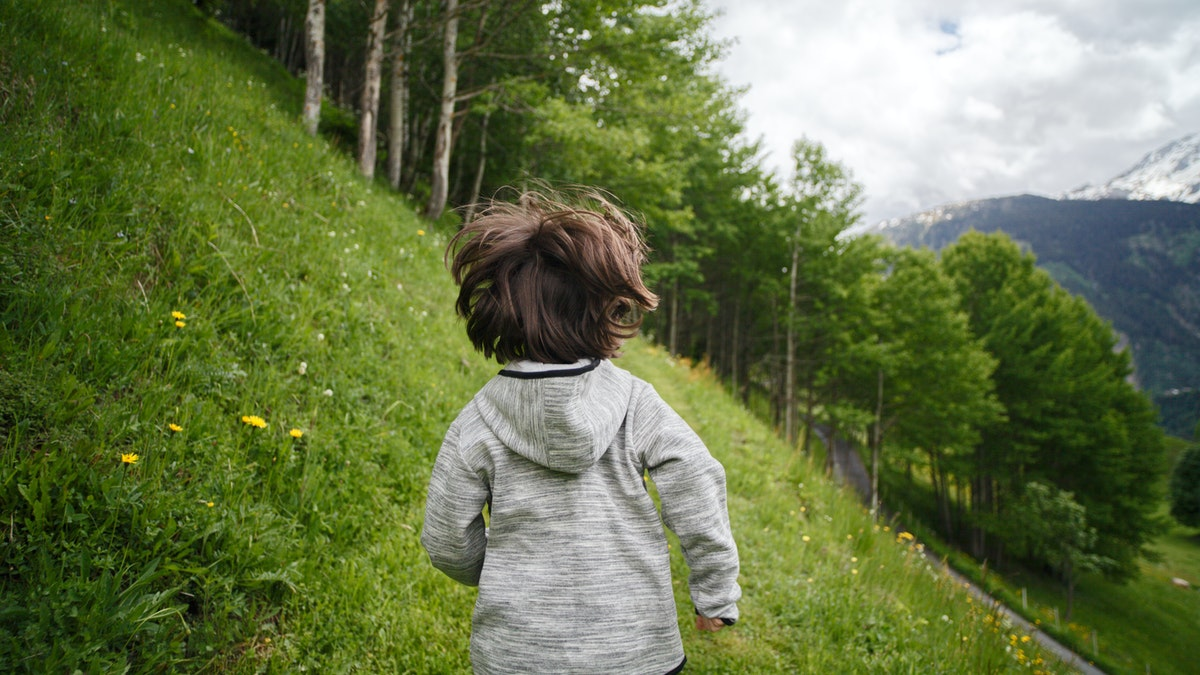 toddler-wearing-gray-hoodie-running-on-green-fields-2495567
