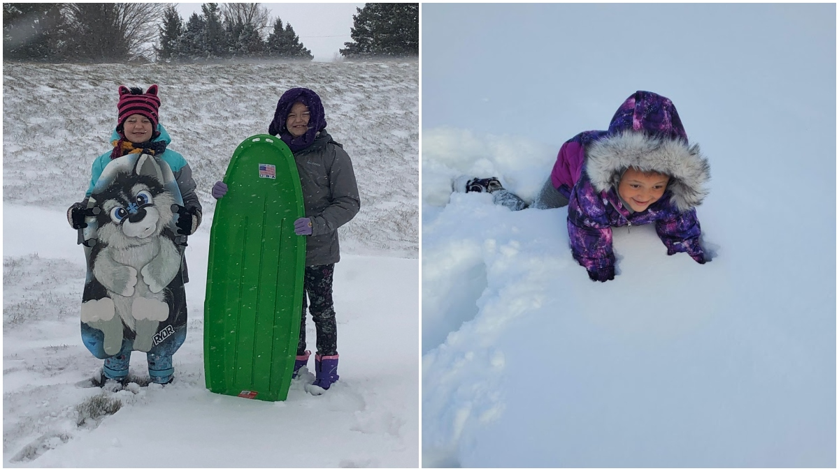 iLEAD Spring Meadows learners play in snow