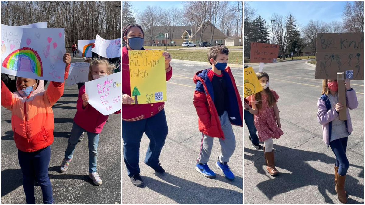 iLEAD Spring Meadows learners march